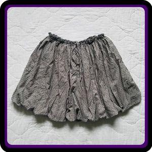 Gap Gray Folded Mini Skirt
